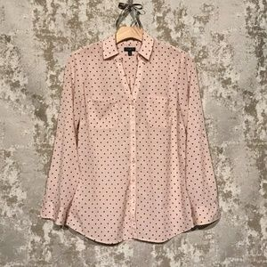 Talbots Button Down Blouse with Polka Dots